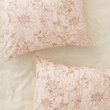 Plum & Bow Margot Climbing Floral Sham Set