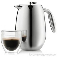 Bodum - Columbia French Press Coffee Maker - Double Wall, 12 Cup