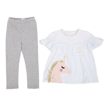 Fantastical Unicorn Glitter Tunic & Legging Set
