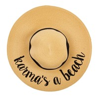 Karma's A Beach Floppy Straw Hat