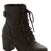 Military Where There's a Willamette Boot in Black by ModCloth