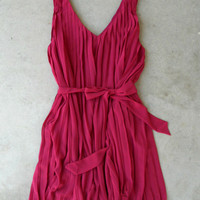 A Plethora of Pleats Dress in Berry : Vintage Inspired Clothing & Affordable Dresses, deloom | Modern. Vintage. Crafted.