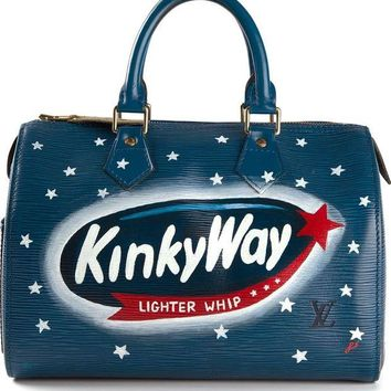 DCCKIN3 Rewind Vintage Affairs small 'Milky Way' printed bowling bag