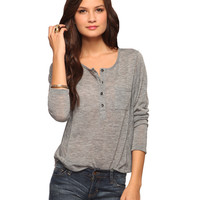 Heathered Knit Henley