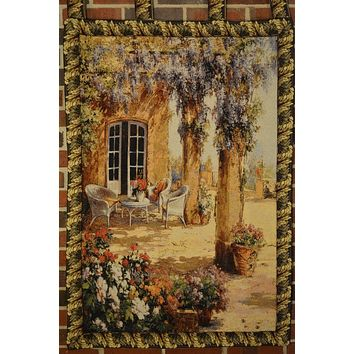 Tache Floral 28 x 47 Inch Spring Party Tapestry Wall Hanging With Hanging Loop (WH-DA11997)