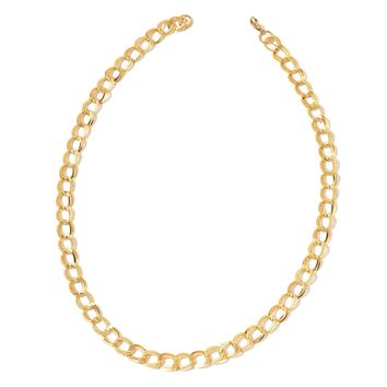 ION Plated Gold Stainless Steel Double Curb Chain (24 in)
