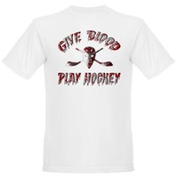 Give Blood Play Hockey Organic Men's T-Shirt> Give Blood Play Hockey> Game Face Gear