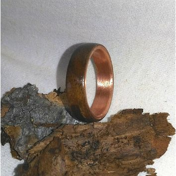 Black Walnut and Copper Bentwood Ring