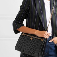 Gucci Gg Marmont Medium Quilted Leather Shoulder Bag #1353