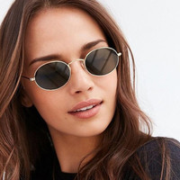Online Shop Rose Gold Mirror Small Oval Sunglasses Women 2017 Luxury Brand Celebrity Eyewear Pink Shades Shades Ladies Alloy Sun Glasses | Aliexpress Mobile