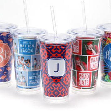 Personalized Tumbler Cup - Monogram Tumbler | Bridal Party Gift | Bridesmaid Gift | Bachelorette | Monogram Cup | Personalized Tumbler