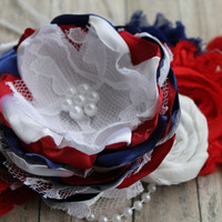 fourth of july headband, red white and blue , memorial day, patriotic headband, for newborn, baby, toddler, girl, tween, teen and adults