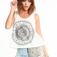 SUN AND MOON GRAPHIC TEE