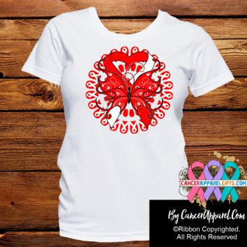 Oral Cancer Stunning Butterfly Shirts