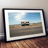 Photography of Prada Marfa In Texas Landscape Desert West Remote Empty Tourist Installment Architecture Color Photograph INSTANT DOWNLOAD