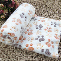 3 Sizes Pet Kennel Mat Thermal Blanket Dog Quilt Polka Dot Air Conditioning Blanket
