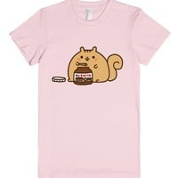Nutella Squirrel-Female Light Pink T-Shirt