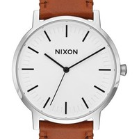 Nixon Porter Leather - White Sunray/Saddle