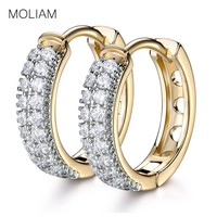 MOLIAM New Arrival Luxurious Hoop Earring Ladies Fashion Shining Crystal Zircon Earrings for Women Wedding Accessories MLE177