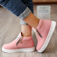 Fashion Children's Zipped Casual Shoes