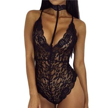 One Piece Bathing Suit Sexy Transparent Swimwear Women  Lace Swimsuit Bathing Suit Swim Suit red Bodysuit Black Monokini KO_9_1