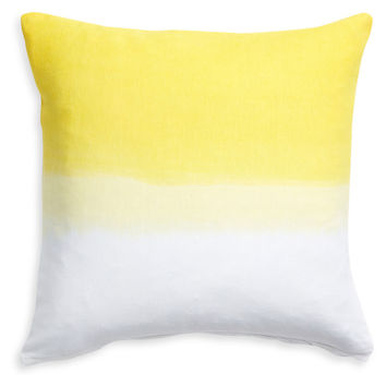 Dip Dye 16x16 Pillow Cover, Yellow, Decorative Pillows