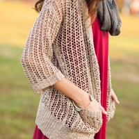 Mocha Moments Knit Cardigan