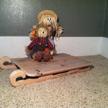Sleigh Infant Photo Prop or Holiday Decor Made with Reclaimed Barn Wood
