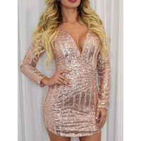 Geometry Sequins Hip-Full Form Dress LAVELIQ