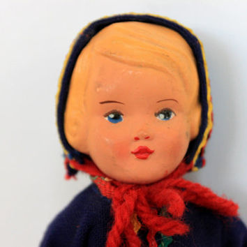 vintage celluloid doll // collectible doll // 1930s