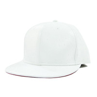 White Ostrich Leather Snapback Hat
