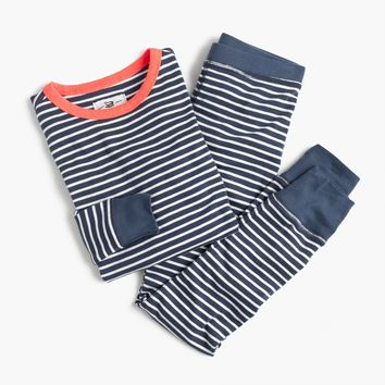 Kids' pajama set in classic stripes : Girl sleep sets | J.Crew