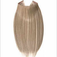 """Hidden Halo Flip-in Extensions by Lord & Cliff (Straight) - 18"""" Heat-Friendly Fiber (Color F14/24)"""