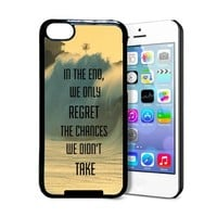 Regret The Chances Didn't Take Philosophical Hipster Quote iPhone 5c Case - Fits iPhone 5c