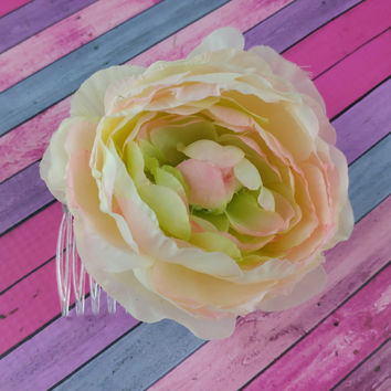 Flower Hair Comb - Spring Blossom Peony