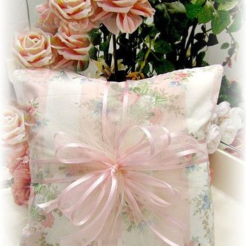Everyday Romance Pink Vintage Roses Pillow