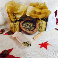 I Put a Spell on You, dark arts, holistic autumn kit, Halloween special, Blood Moon Tea Bath, Queen of Darkness scrub, Witches Brew RoyalTea