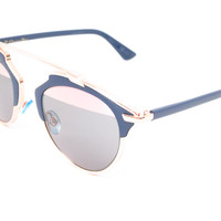 Dior So Real U5WZJ Blue with Rose Gold Sunglasses