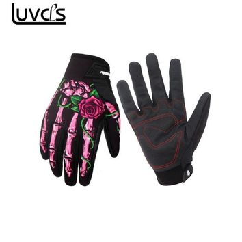 Riding Gloves Skeleton Skull Bone Mechanic Sports Warm Gloves