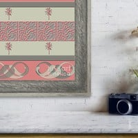 Cheery Coral Pink Framed Print