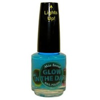 Mia Secret Glow In The Dark Neon Nail Lacquer Nail Polish GD-03 Blueberry Pop Neon Turquoise Blue