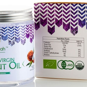 MORE VIRGIN Coconut Oil Extract Cold Pressed Natural Healthy Oil for Hair & Skin Care