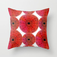 Mandalas Throw Pillow by Li Zamperini