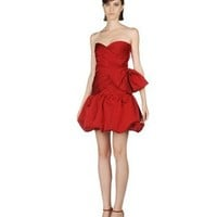 Strapless sweetheart satin short red Prom Dresses 2013 BSPD004