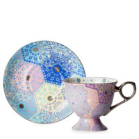 Moroccan Tealeidoscope Iced Pale Pink Cup & Saucer Tall - T2 EU | T2 Tea GB
