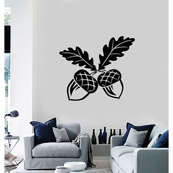 Vinyl Wall Decal Oak Tree Acorn Nature Leaves Home Decor Stickers Mural (g404)