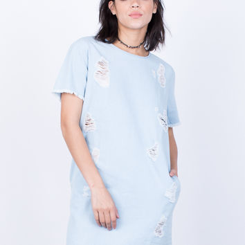 Torn Apart Denim Dress