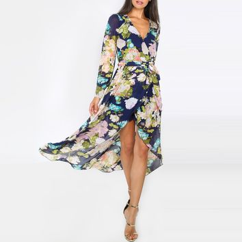 Chicloth High Low Floral Maxi Dress