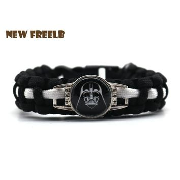 2018 Personalized Jewelry Star Wars: The Last Jedi Bracelets Darth Vader Stormtrooper Movie Collection for Unisex Fans 9 Styles