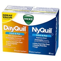 DayQuil & NyQuil Cold & Flu Relief Combo Pack - 48 LiquiCaps Total (32 DayQuil, 16 NyQuil)